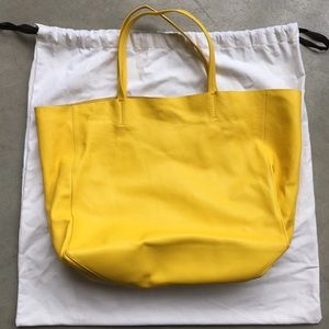 Celine horizontal cabas lambskin leather tote bag